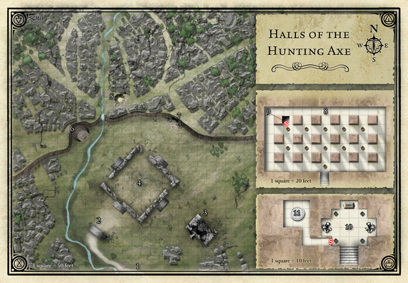 Princes of the Apocalypse; Halls of the Hunting Axe  (Digital DM & Player Versions)