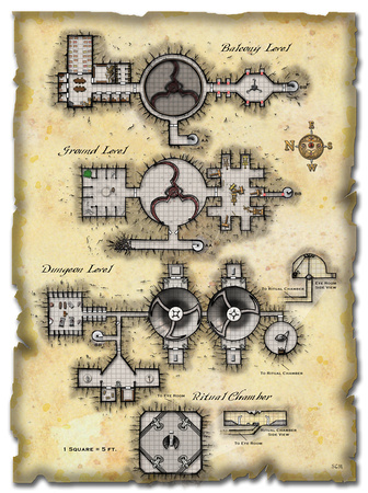 Map from Dungeon Magazine 155