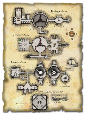 Map from Dungeon Magazine 155 - No Grid